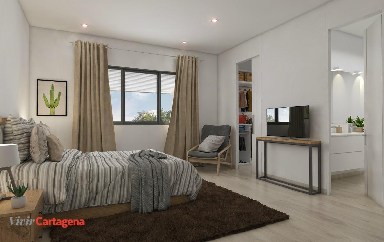 VivirCartagena - Obra Nueva Madreselva24 - Dormitorio