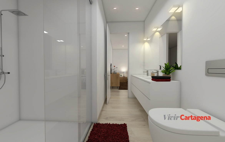 VivirCartagena - Obra Nueva Madreselva24 - Baño primer piso